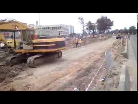 The Reconstruction Of Wharf Road, Apapa In Progress