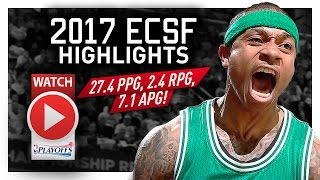 Isaiah Thomas ECSF Offense Highlights VS Wizards 2017 Playoffs - SHOWTIME!