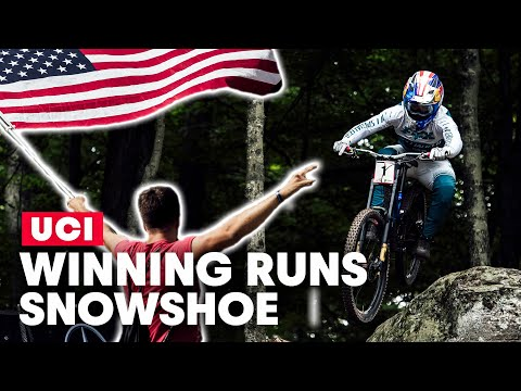 The Final Battle for World Cup Success | Winning Runs from UCI MTB Snowshoe 2019