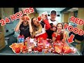We only ate RED FOOD for 24 HOURS!!