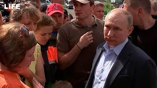 Путин общается с жителями Тулуна
