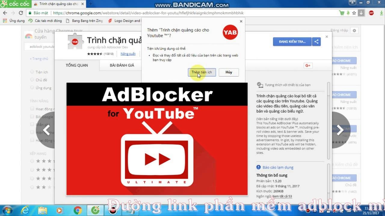 Hướng dẫn chặn quảng cáo trên trình duyệt Coccoc hoặc Google chrome