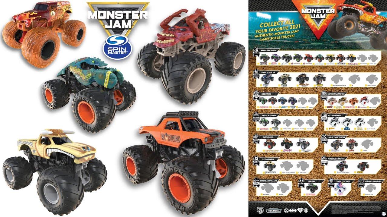 2021 spin master monster jam poster