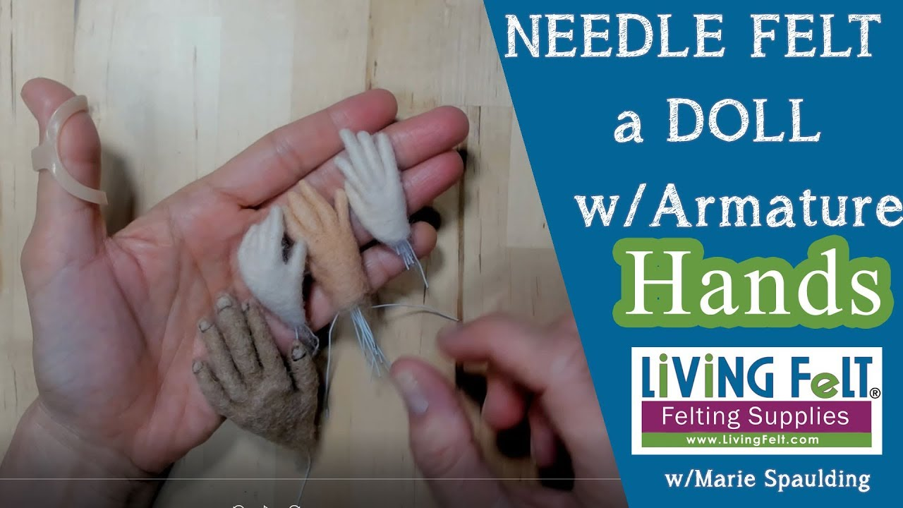 How to Needle Felt Doll Hands with Armature - YouTube