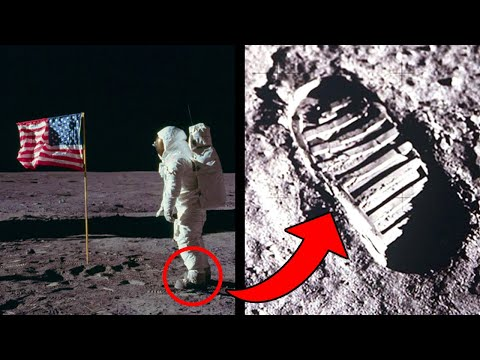 The Steps On The Moon Don't Match Neil Armstrong's Spacesuit Boots?