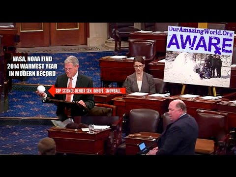Senator Jim Inhofe's Snowball (HONK IF YOU ♥ GLOBAL WARMING)