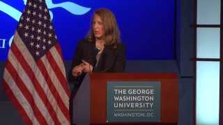 U.S. Secretary of Health and Human Services, Sylvia Mathews Burwell, Speaks at GW