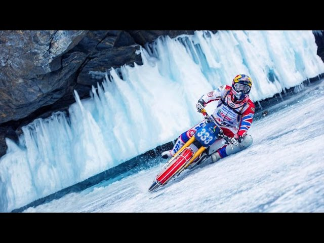 Ice Speedway Racing Over a Frozen Lake in Russia