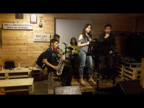 Marya Genova jamming w/friends - Cinta dan rahasia by Yura Yunita @ Warcos 110816
