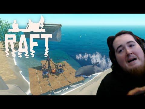 RAFT with Captain DanielDeur   Shark Attack Simulator   Steam/PC Gameplay