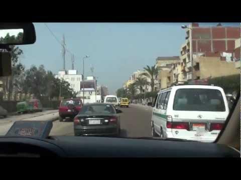 Driving Cairo القاهرة to Alexandria الإسكندرية - Egypt مصر