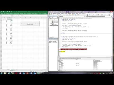 0040. Excel VBA: Rechnen im Array / Formeln im Array / Ubound