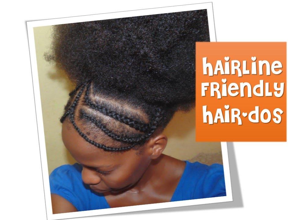 45 Hairline Friendly Hairstyles Braided Headband YouTube