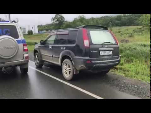 Погоню за неадекватным водителем в Южно-Сахалинске сняли на видео