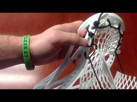 Brine Cyber X Lacrosse Stringing Video - Tutorial By Kyle From SportStop.com
