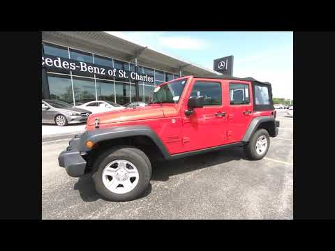 2014 Jeep Wrangler Unlimited SPORT St. Charles IL Q0507A