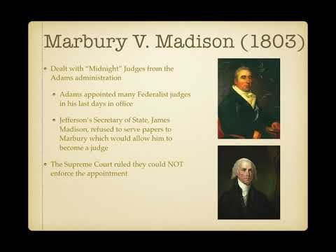 US Regents Review: Video #12: Important John Marshall Court Cases