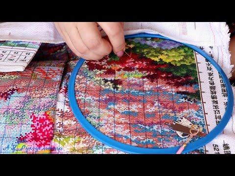 #вышивка  #ТЭГ от Ларисы Карташовой/Как я вышиваю большой   китайский  набор .