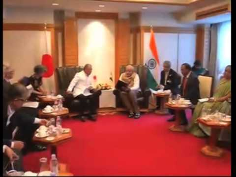02 Sep, 2014 - Indian PM Modi meets governor of Aichi Prefecture of Japan