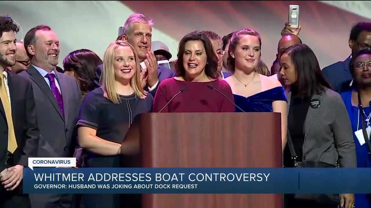 Governor Whitmer Responds To Boat Controversy Saying Her Husband Made A Failed Attempt At Humor Youtube