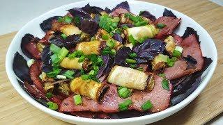 Новая идея из КАБАЧКОВ! Теплый салат с кабачками и копченой говядиной.