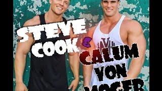 Steve Cook и Calum von Moger. Тренировка дельт. Часть 1
