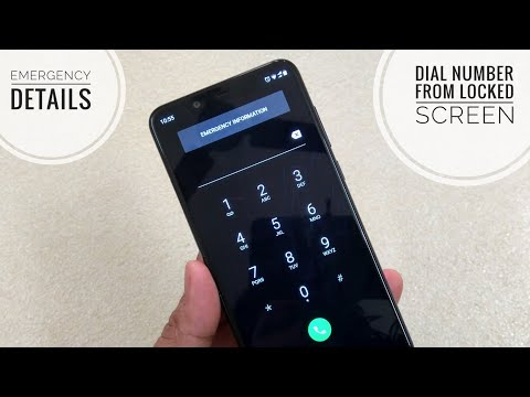 How to set emergency details on Android Phones? Dial number from locked Screen? Feat. Nokia 5.1 Plus