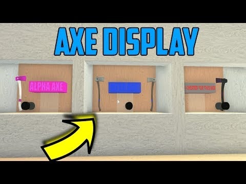 Axe Display Build! Roblox Lumber Tycoon 2 - Смотреть видео