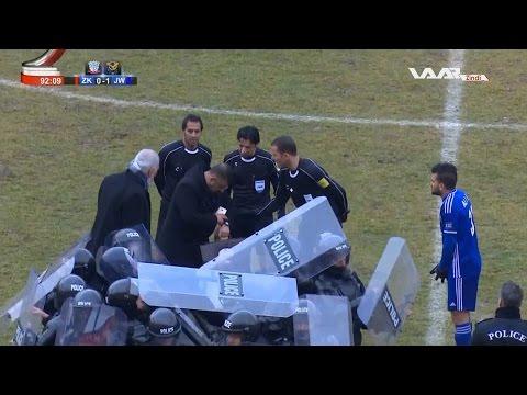 انسحاب فريق زاخو أمام القوة الجوية وخروج الحكم تحت حماية قوات الأمن + هدف المباراة | الدوري العراقي