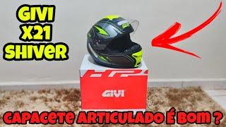 Unboxing e Review do capacete articulado GIVI X21 Shiver Compartilhar com os amigos, não esquece de se inscrever é dar aquele like. Tamojunto ...