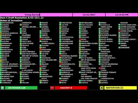 UN Defies Trump, Votes To Condemn Trump's Jerusalem Decision