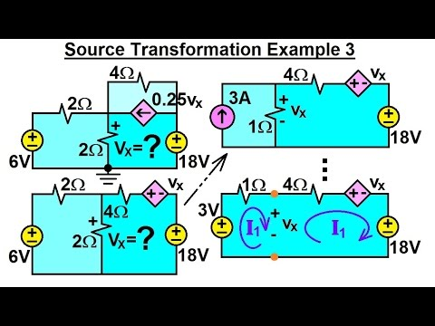 Electrical Engineering: Ch 4: Circuit Theorems (13 of 35) Source Transformation Ex. 3