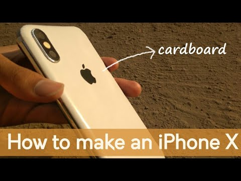 How to make an iPhone X from cardboard