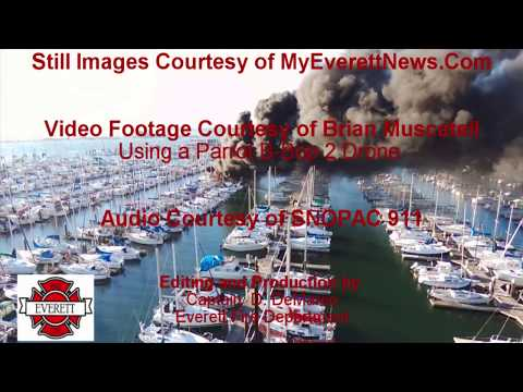Everett Marina Fire July 8, 2017