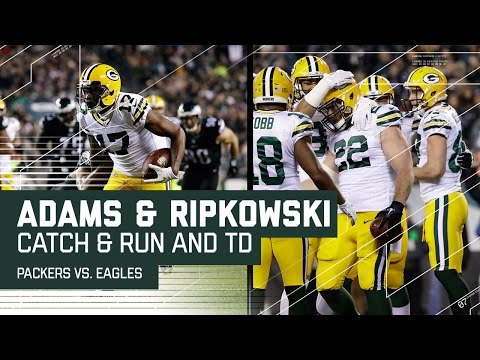 Davante Adams Great Catch & Run Sets Up Aaron Ripkowski TD | Eagles vs. Packers | NFL