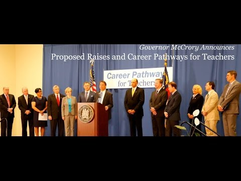 Governor Pat McCrory Proposes Sweeping Education Initiatives, Raises & Career Pathways for Teachers