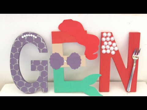 The Little Mermaid Party Altered Wood Letters