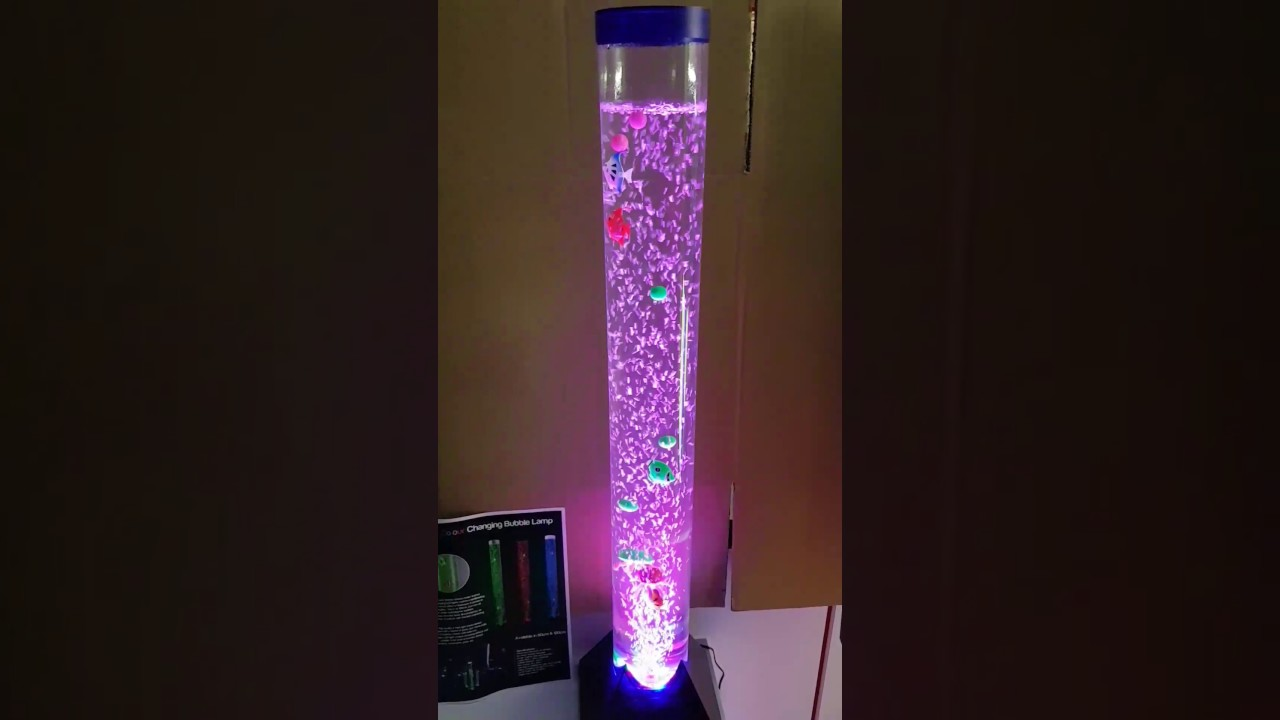 Led Colour Changing Bubble Novelty Sensory Mood Light Fish Water