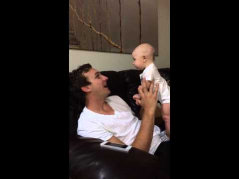 4-month-old baby says 'I love you'