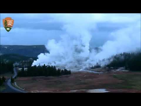 Yellowstone Over Night/Big Geyser Activity 5/16/2019