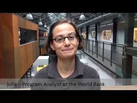 Julia, World Bank analyst for entrepreneurship and development programs - Coworker of the week