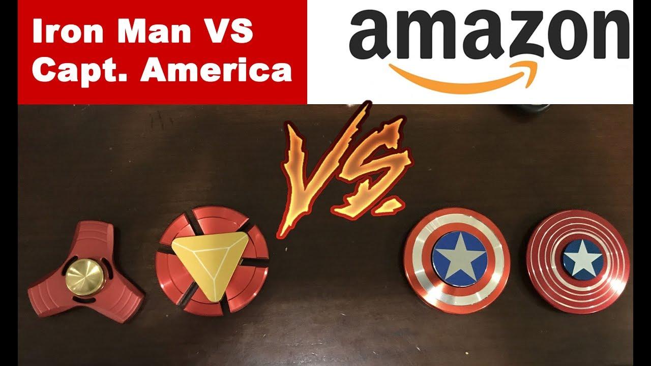 Coolest New Iron Man Vs Captain America Fidget Spinner Review On