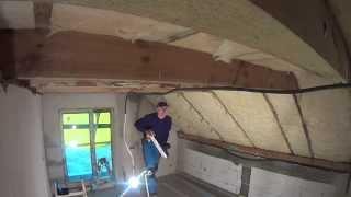 poddasze  - trasowanie sufitu - konstrukcja rusztu pod płyty gk