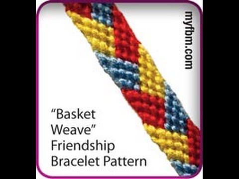 Friendship Bracelet Tutorial Basket Weave Pattern Knot It App