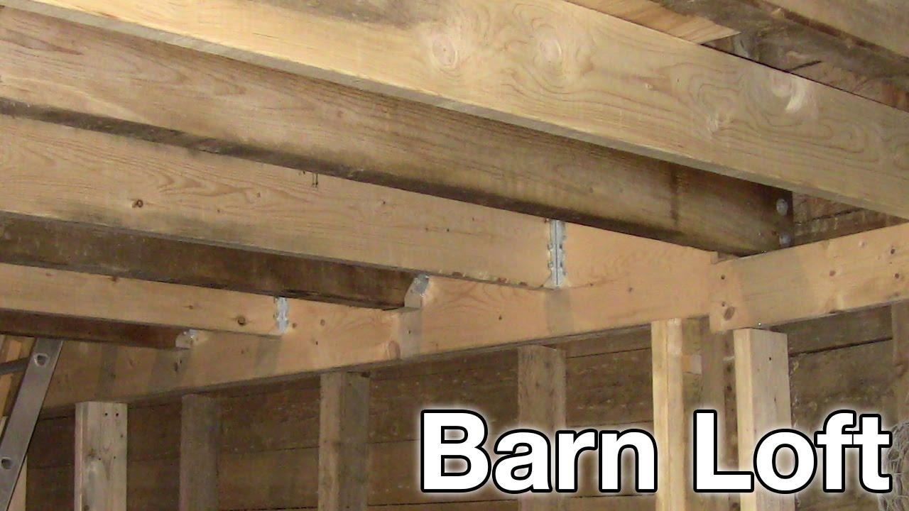Installing Floor Joists Across The Header Barn