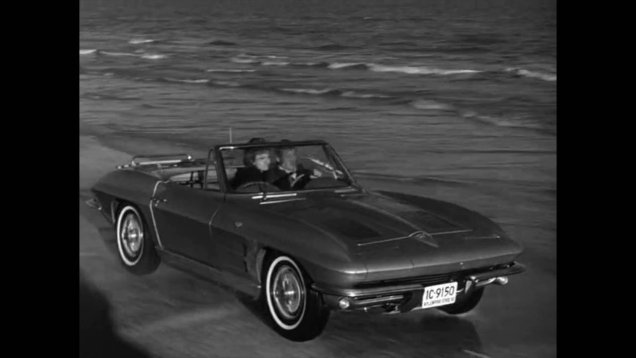 route 66 tv show clip - galveston - corvette in the surf w theme