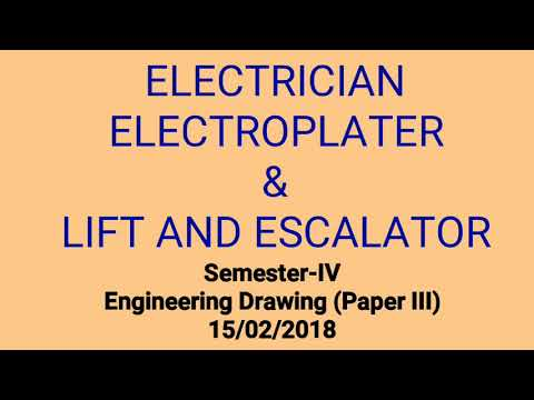 Semester-IV ELECTRICIAN Engineering Drawing Paper III