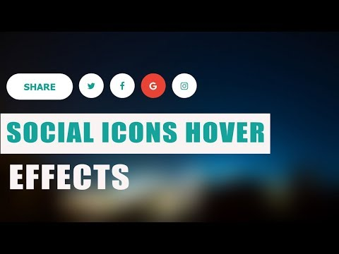 Social Media Buttons with Amazing animation on hover using html & css thumbnail