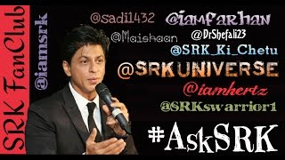 Awesome Replies By Shah Rukh Khan During The #AskSRK  Chat Session On Twitter - 11/10/2016