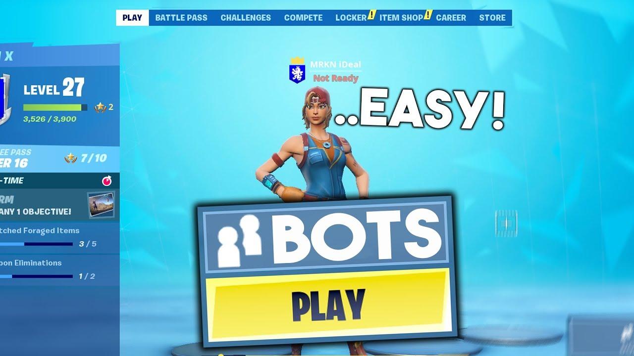 How to Get Bot Lobbies Glitch in Fortnite! (BOTS ONLY LOBBY GLITCH SEASON  10)